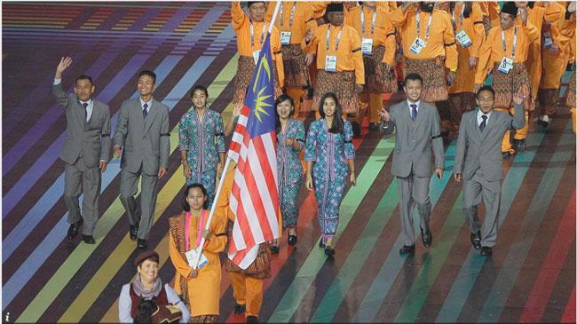 perarakan-atlit-malaysia-komanwel3