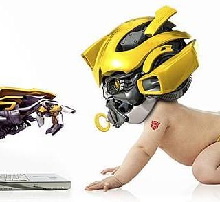 Baby-Bumblebee-Transformer-Helmet