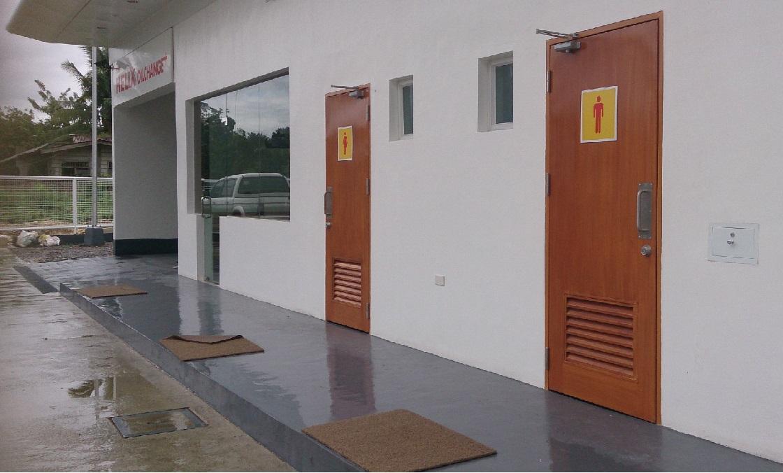 Shell-Station-Toilet-door