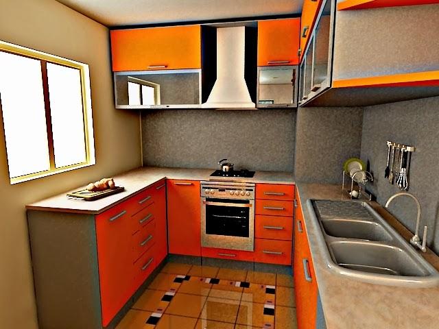 Idea Dekorasi Dapur Kecil 40
