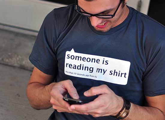 reading my shirt
