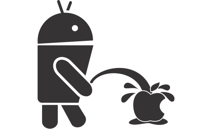 android apple urinating