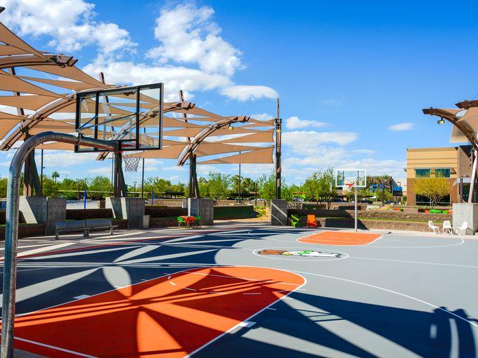 godaddy basketball court