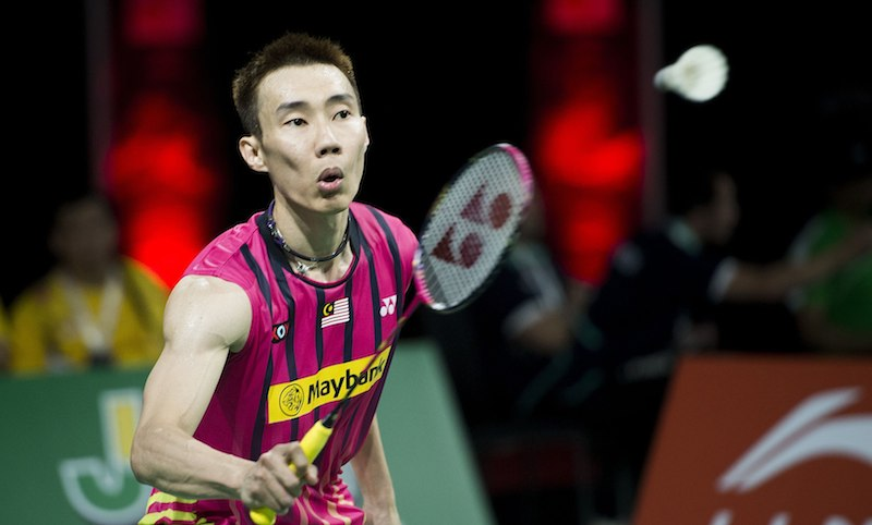 Malaysia's Lee Chong Wei looks on during their men's singles match against South Korea's Lee Dong-keun during the Badminton World Championship in Copenhagen