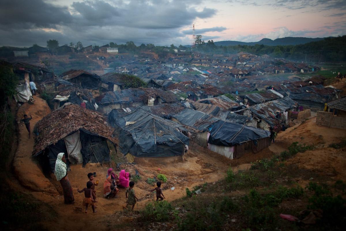 Penempatan pelarian Rohingya yang tidak berdaftar – Gambar: Jonathan Saruk