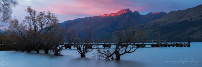 Red Light at Tooth Peaks, Glenorchy.