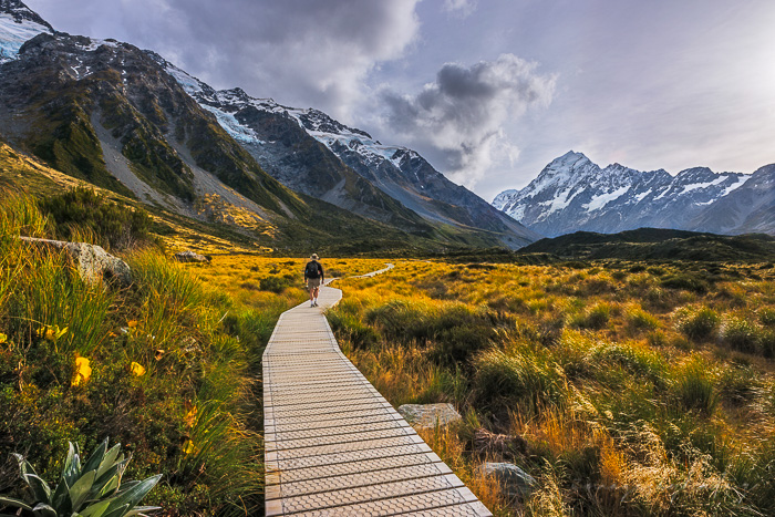 An Autumn View at Hooker Valley.