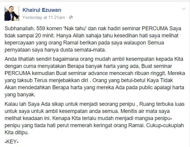 Facebook Tuan Khairul Ezuwan