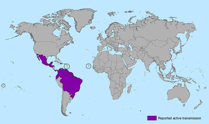 Negara-negara terlibat. CDC