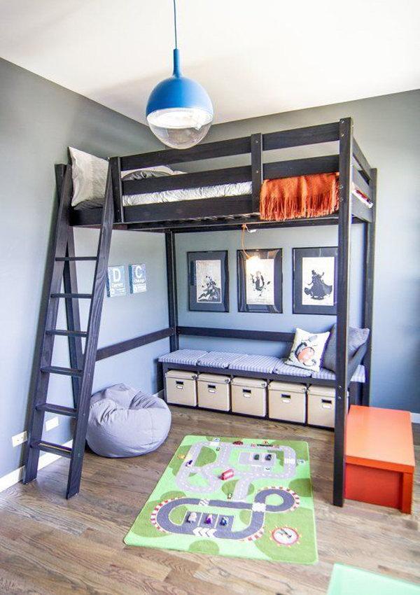 Katil Loft Untuk Bilik Tidur Orang Dewasa Yang Bujang