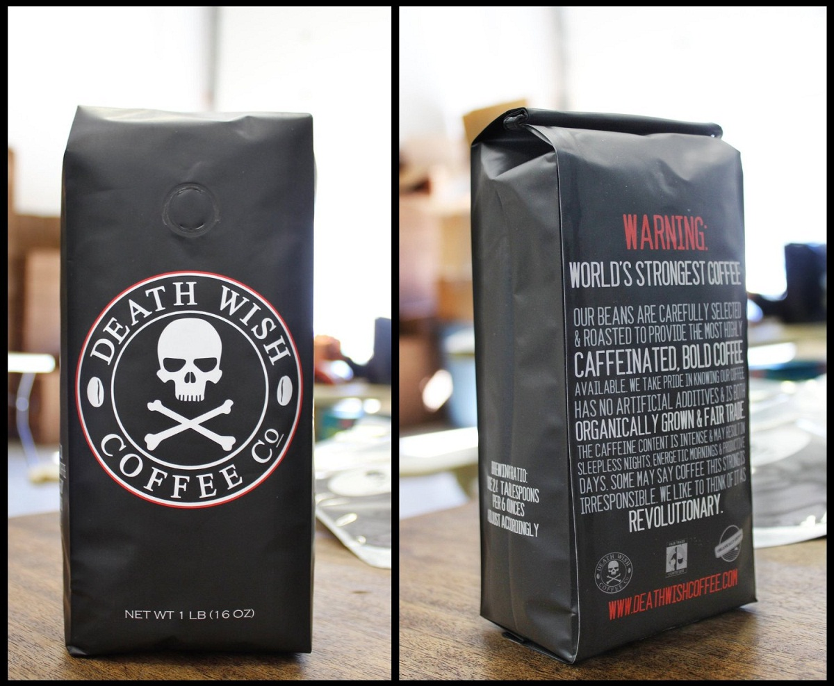 Amaran kesihatan di pek Death Wish Coffee