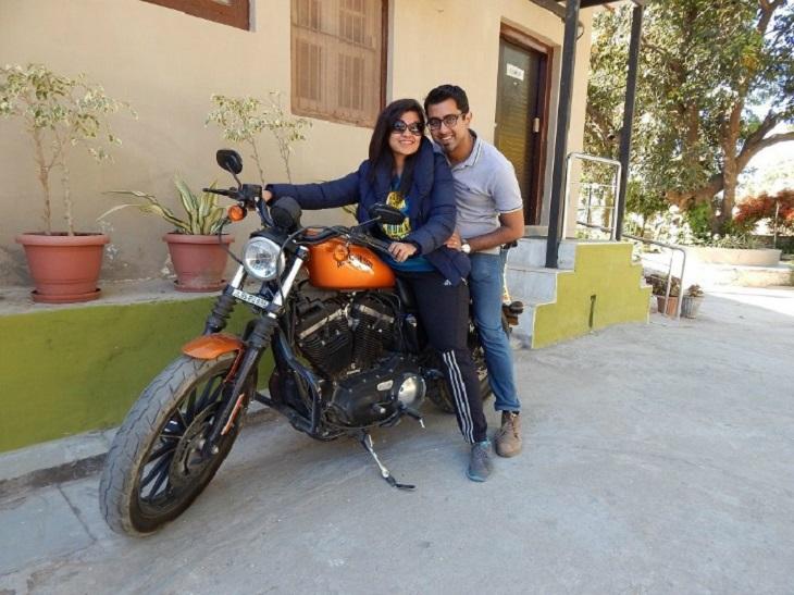 Gaurav dan Akhilee bersama Harley-Davidson mereka