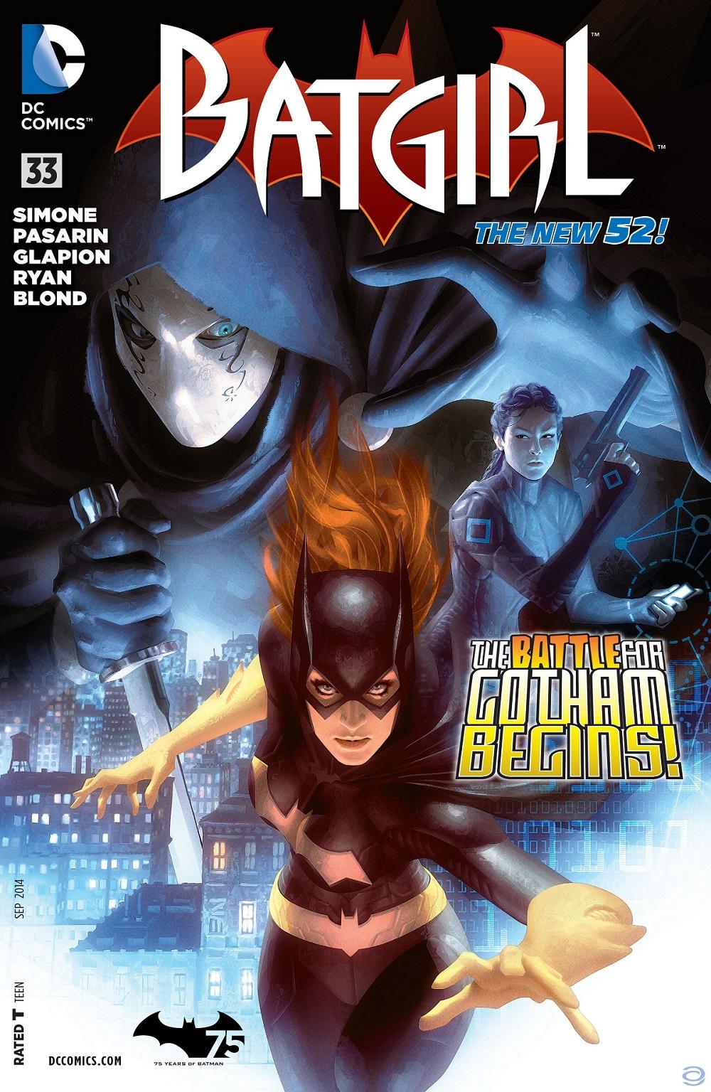 Munira Khairuddin (Obscura) memegang pistol dalam cover depan Batgirl #33