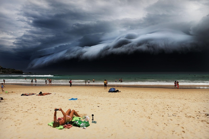 'Storm Front on Bondi Beach'- Rohan Kelly