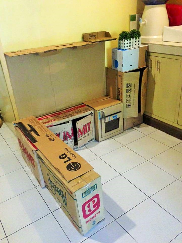 Diy Play Kitchen Made Of Bo 02