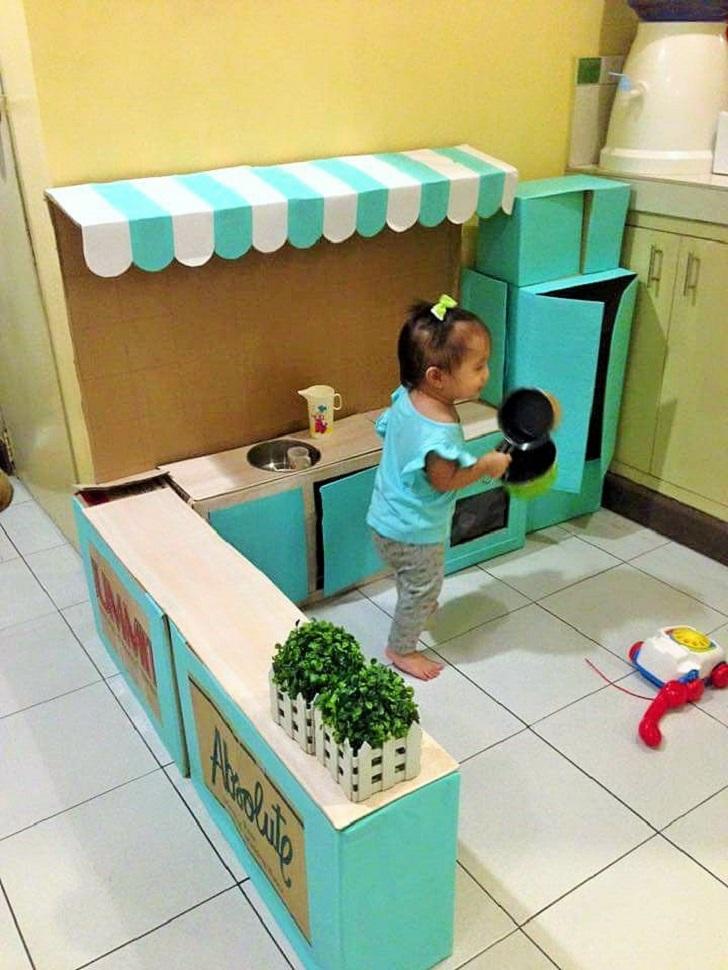 Diy Play Kitchen Made Of Bo 03