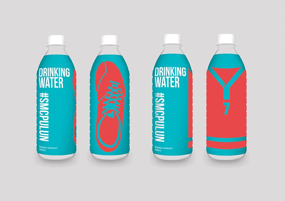 Air minuman #SMCPulun adalah salah satu tugas pembungkusan oleh Husam Waksa Group