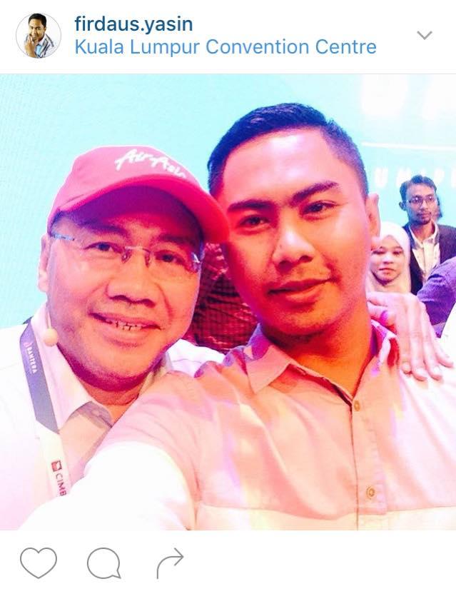 Penulis, Firdaus Yasin ketika menghadiri acara Bahtera sempat merakamkan gambar bersama Kamarudin Meranun.