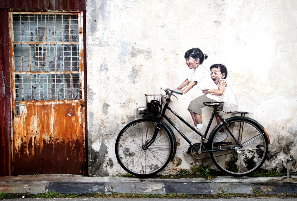 'Little Children on a Bicycle' oleh Ernest Zacharevi