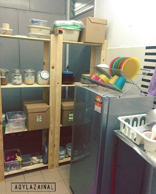 Dapur Rumah Flat Kecil Kreasi