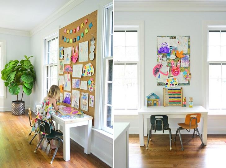 Usah Dibuang Hasil Karya Seni Anak Anda Kerana Ia Boleh Ditampal Di Dalam Playroom Ini Membuatkan Kanak Lebih Menghargai Kerja