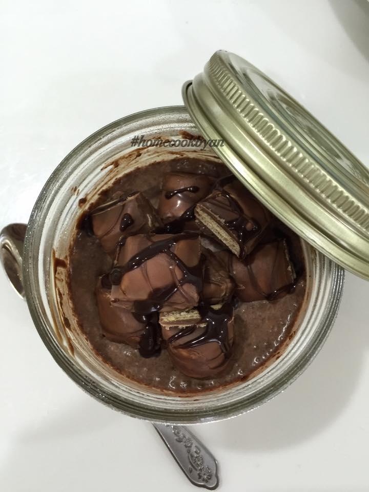 Overnight choc - chia oats