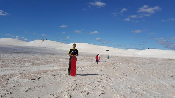 Sandboarding Lancelin, 2 hours from city