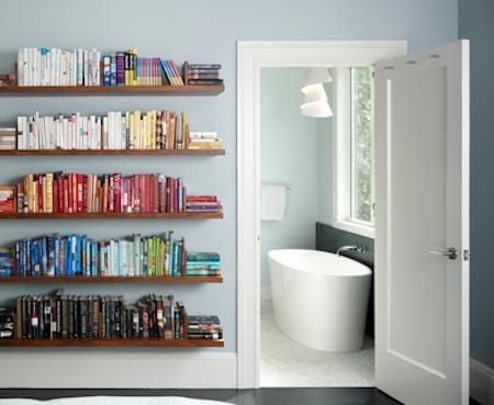 Sekiranya Anda Mempunyai Koleksi Buku Yang Banyak Boleh Menyusun Mengikut Warna Pada Rak Dinding Bilik Koordinasi Ini