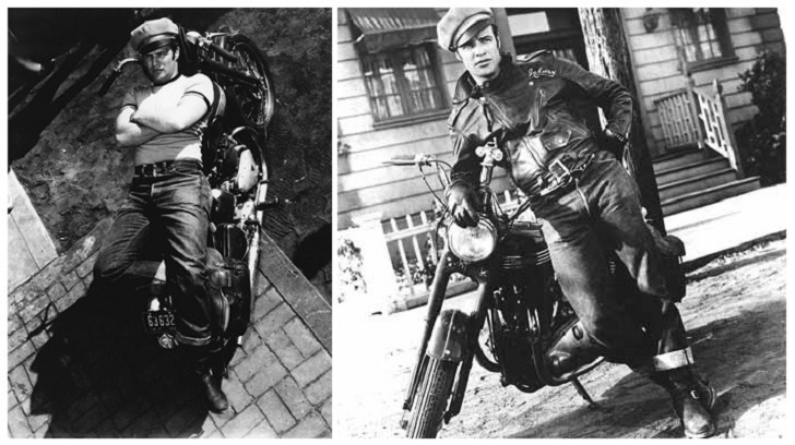 Marlon Brando memakai Levis 501 dan jaket Schott Perfecto