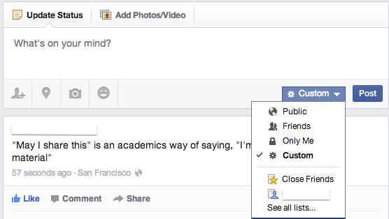 Cara mengawal konten Facebook anda.