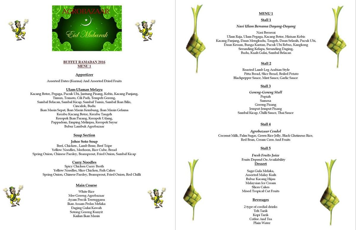 agro menu