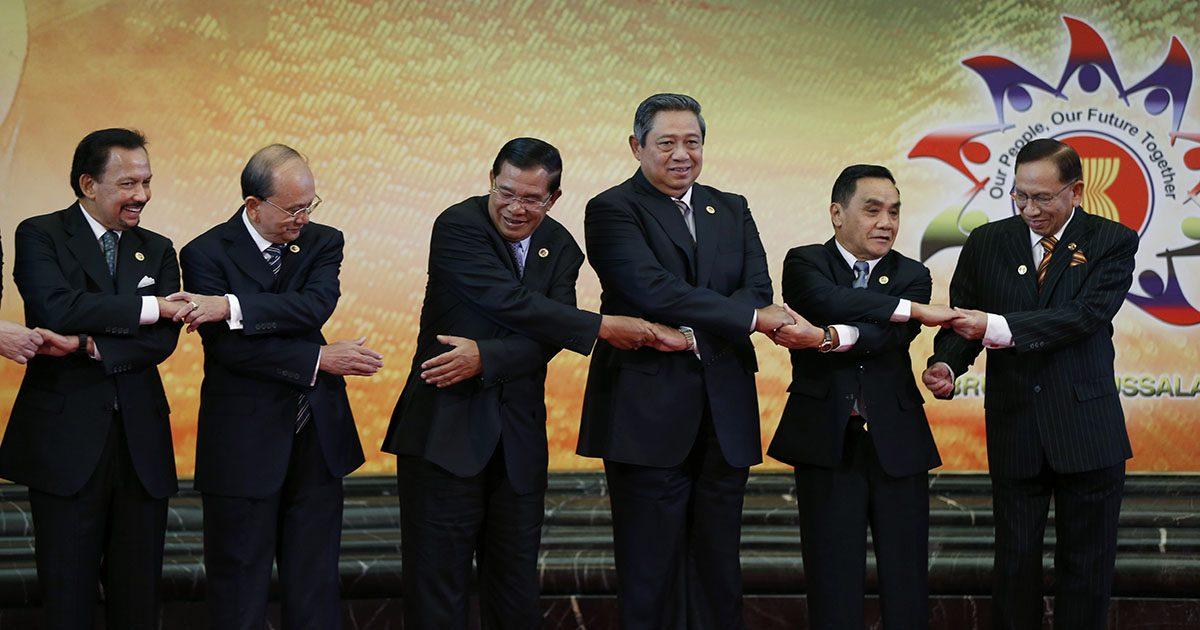 Hassanal Bolkiah, Thein Sein, Hun Sen, Susilo Bambang Yudhoyono, Thongsing Thammavong, Abu Zahar Ujang