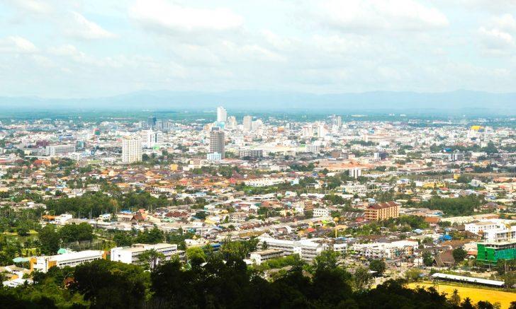 Pemandangan Bandar Hat Yai dari puncak Gunung Kho Hong