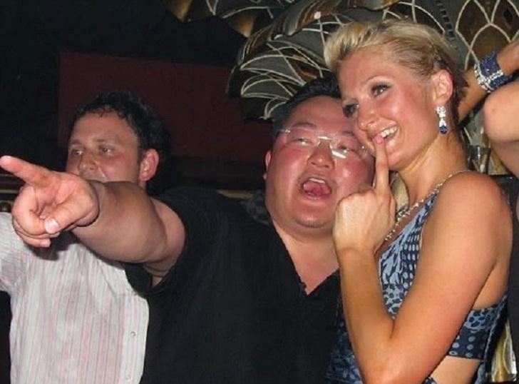 Jho Low dan Paris Hilton di sebuah parti sekitar tahun 2010