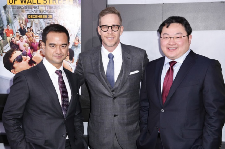 Riza Aziz (kiri) bersama  Joey McFarland (co-founder Red Graphite Pictures) dan Jho Low