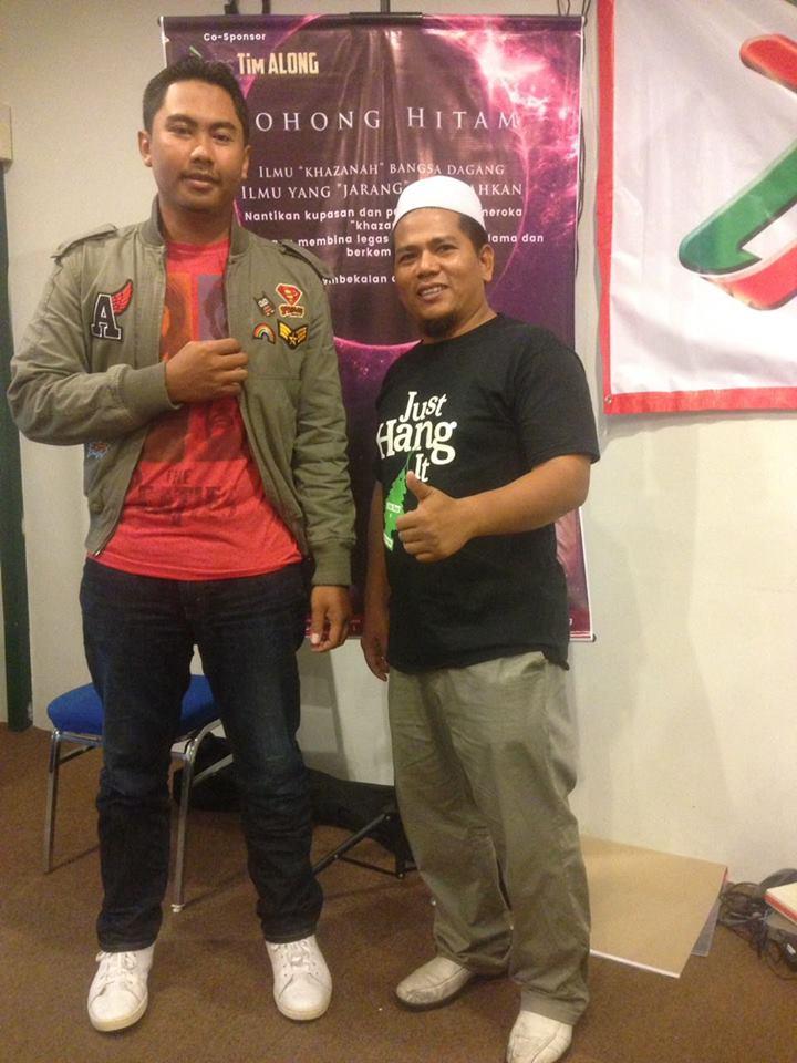 Penulis, Firdaus Yasin bersama Kasih Anuar.