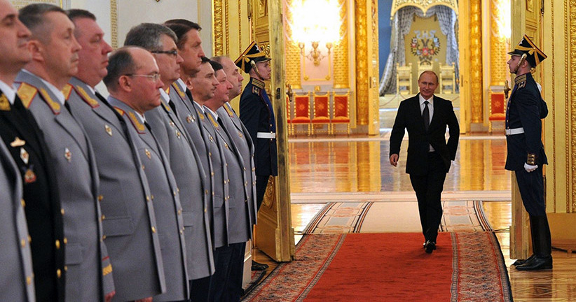 Putin's meeting with senior officers and prosecutors in the Kremlin