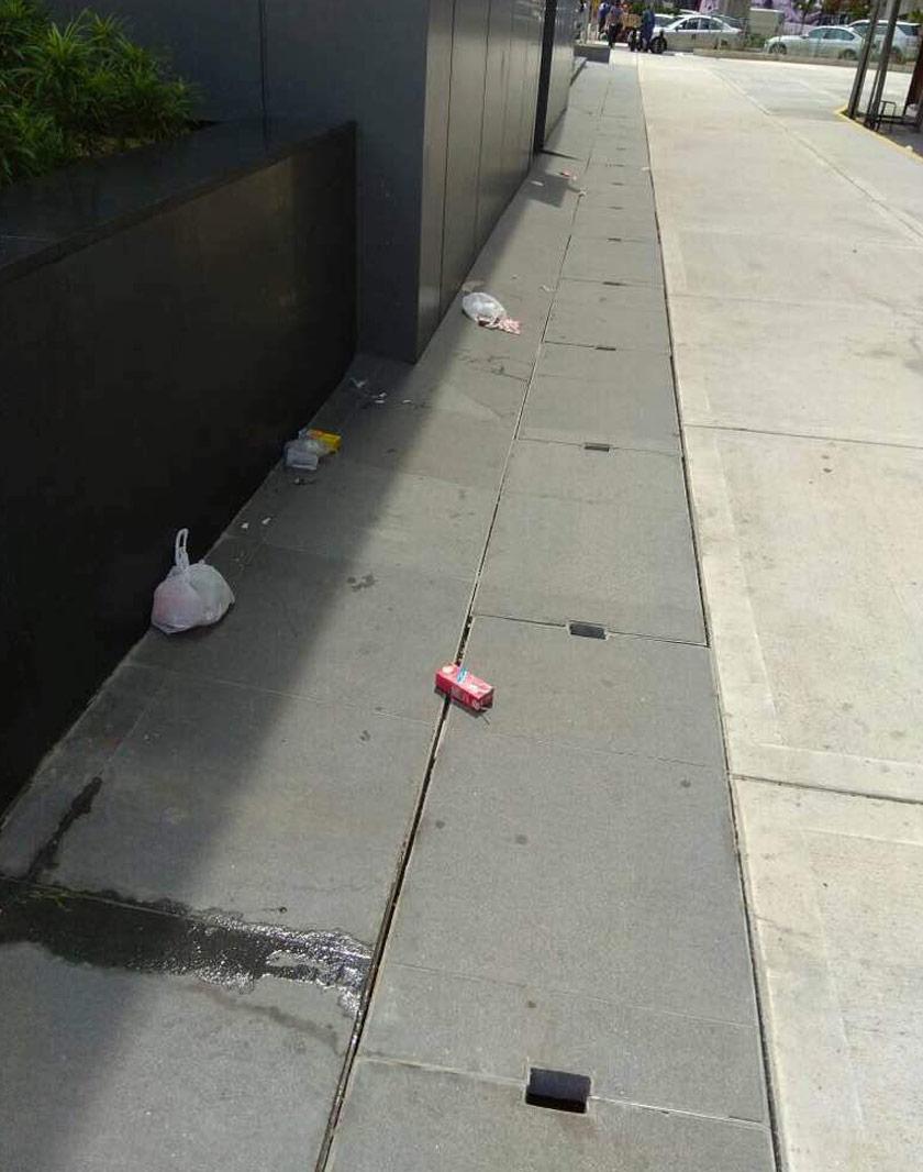 sampah sarap stesen mrt