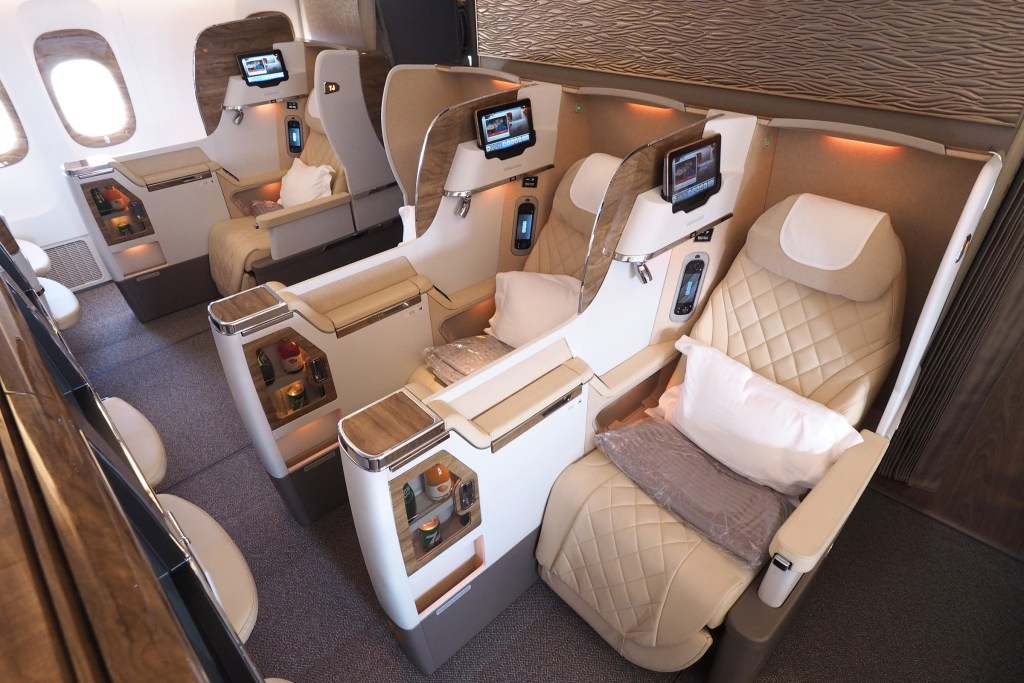 Emirates 777 New Business Class