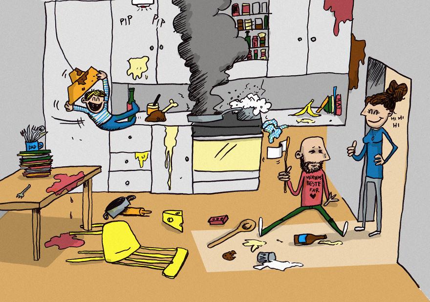 ilustrasi-ayah-jaga-anak-3