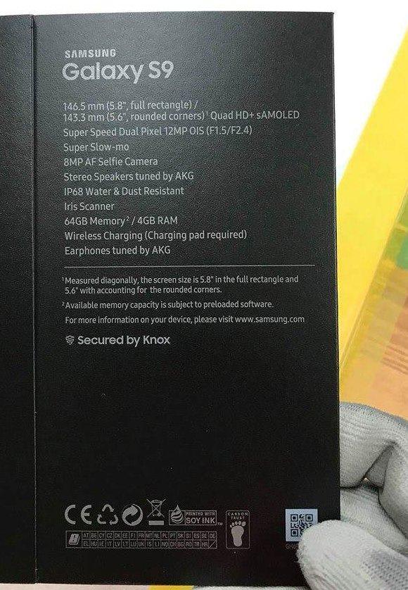 Galaxy S9 leak