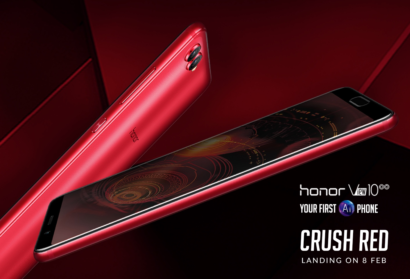 honor View10 Crush Red