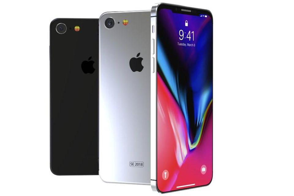 Rekaan konsep Apple iPhone SE 2018