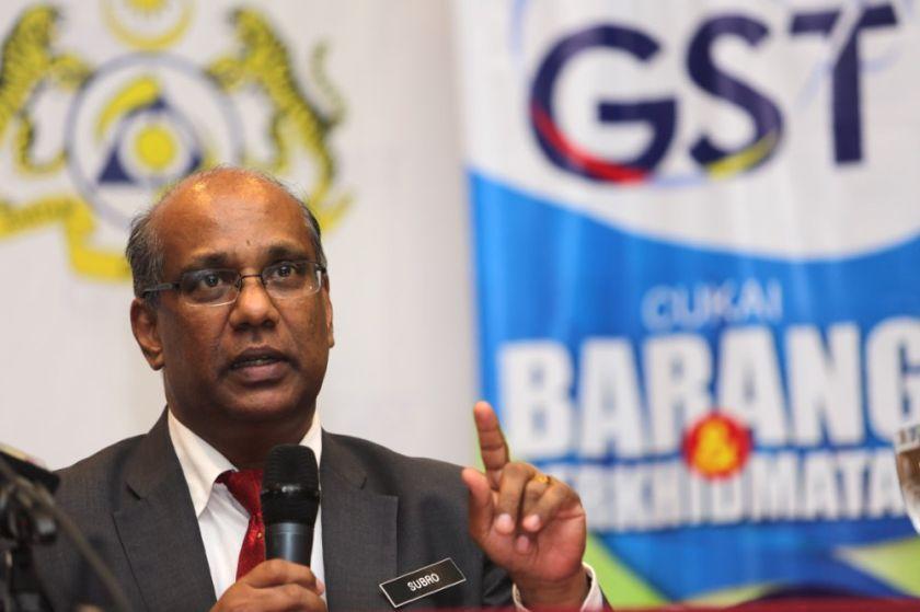 Ketua Pengarah Kastam, Datuk Seri Subramoniam Tholasy