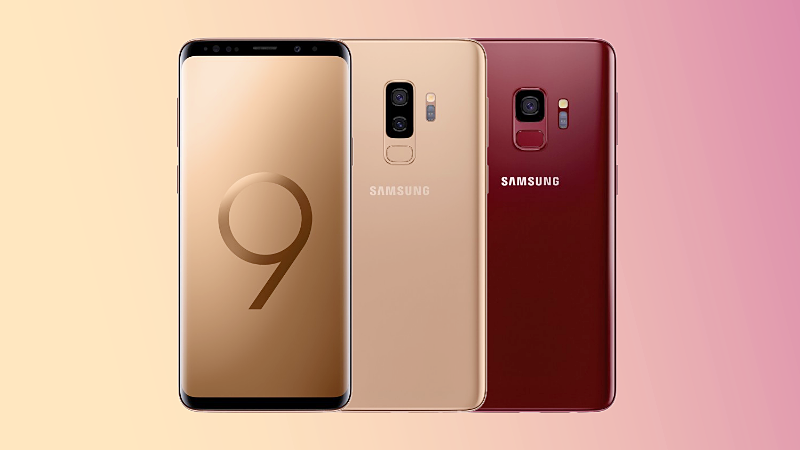 Samsung-Galaxy-S9-duo-arrives-in-Sunrise-Gold-and-Burgundy-Red