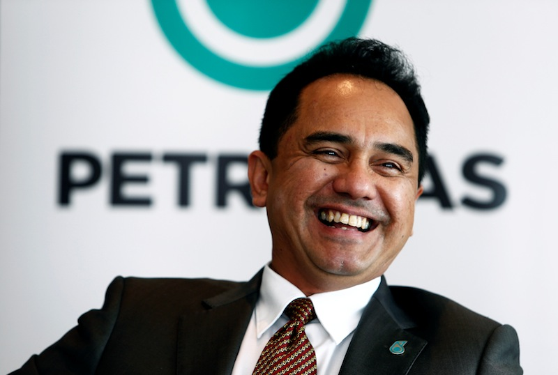 Petronas CEO Wan Zulkiflee speaks during an interview at their office in Kuala Lumpur