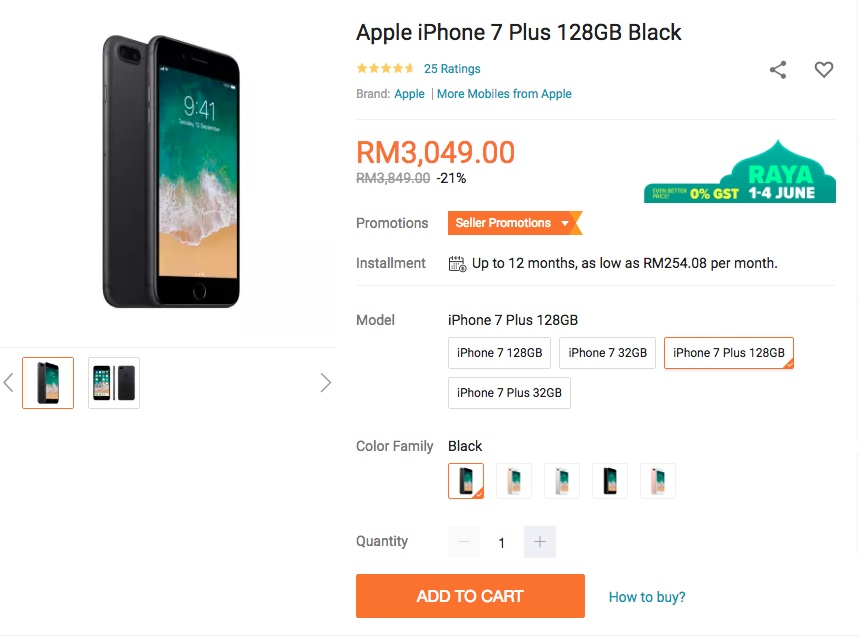 iPhone 7 Plus Lazada