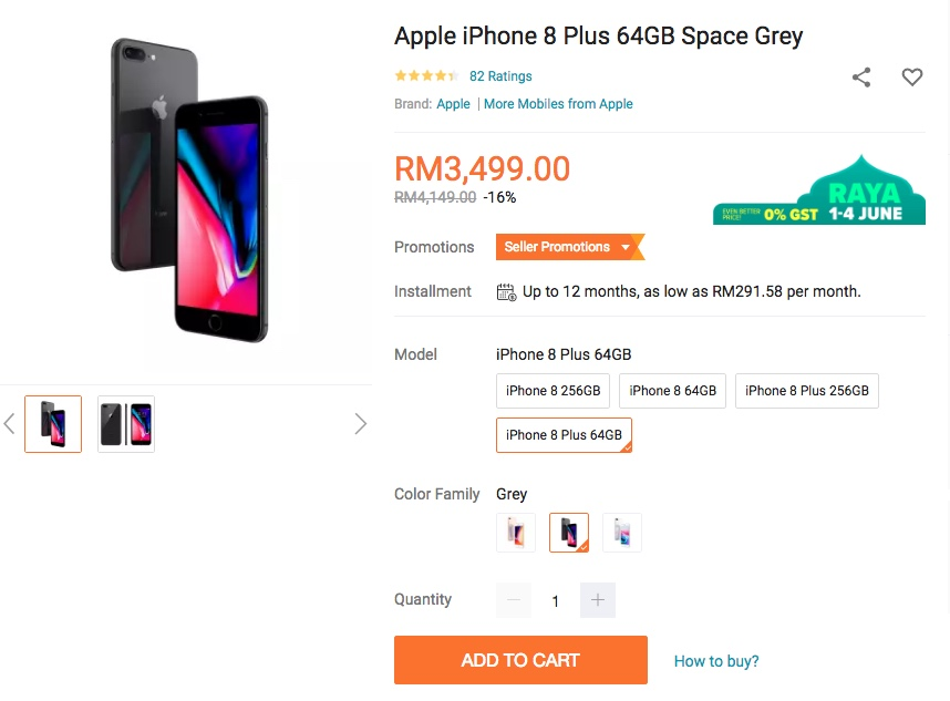 iPhone 8 Plus Lazada