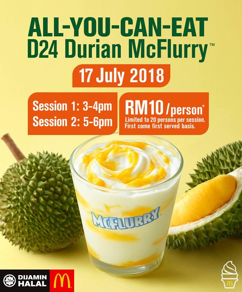 Mac Donald's Durian McFlurry