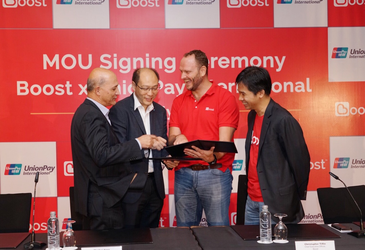 The official MoU Signing of Boost x Union Pay International